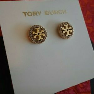 New! Tory Burch Crystal Circle Studs!